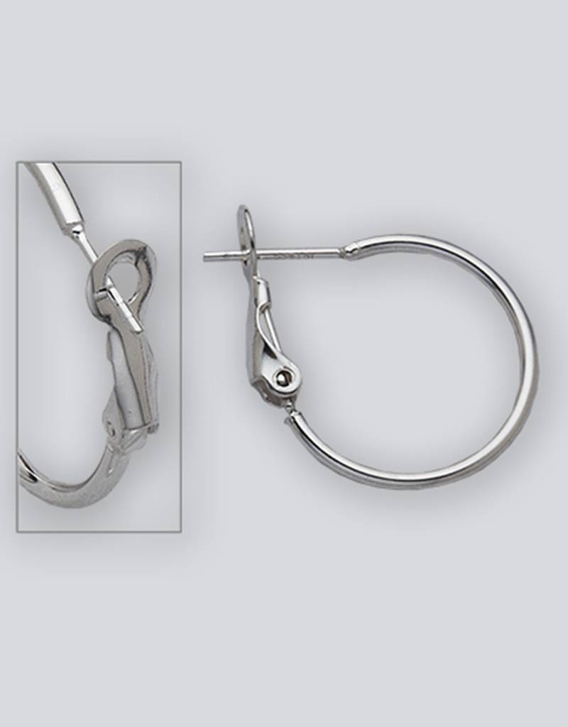 20mm Omega Clip Hoop Earrings