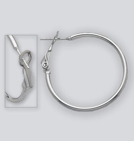 30mm Omega Clip Hoop Earrings