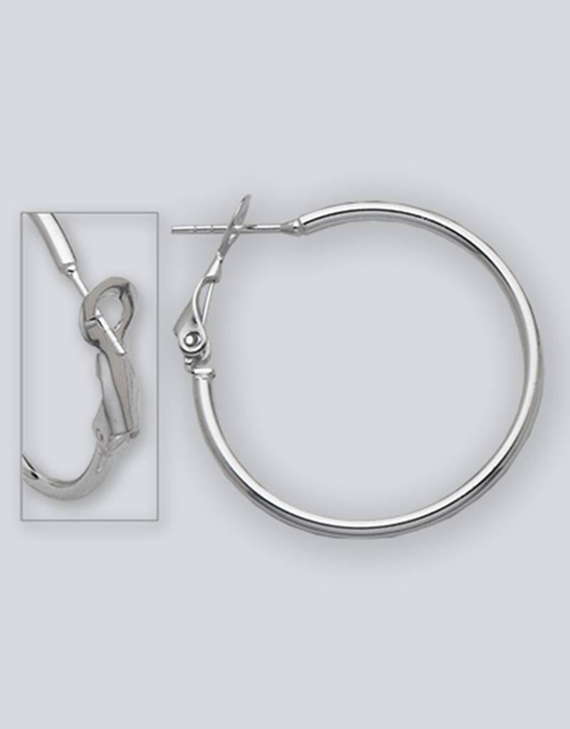 AZU 30mm Omega Clip Hoop Earrings