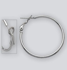 35mm Omega Clip Hoop Earrings