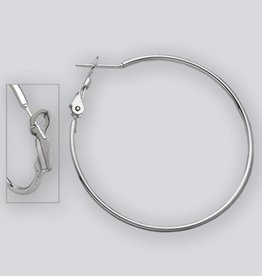 AZU 40mm Omega Clip Hoop Earrings