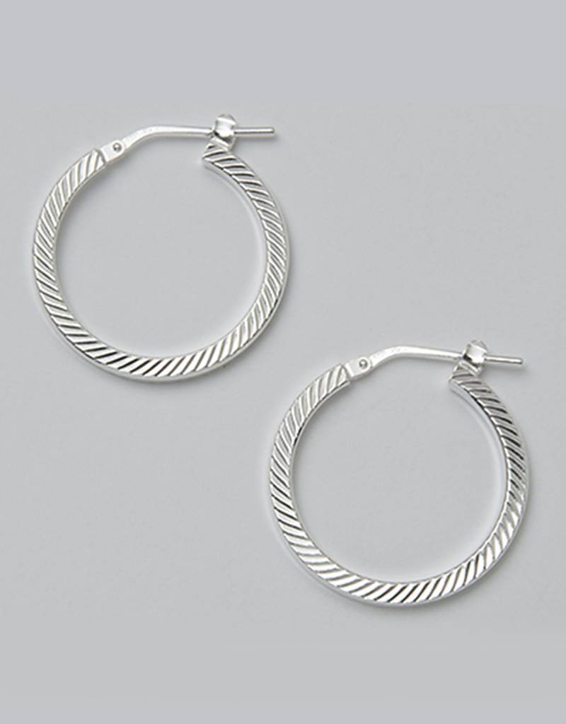 23mm D/C Hoop Earrings