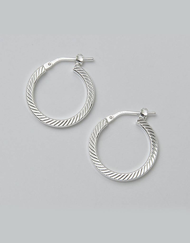 19mm D/C Hoop Earrings
