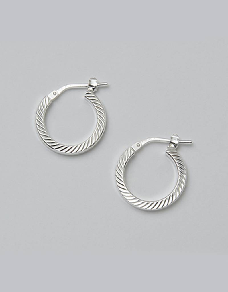 16mm D/C Hoop Earrings