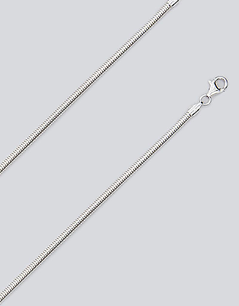Sterling Silver 3mm Flex Snake Chain Necklace
