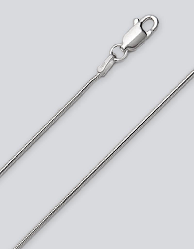 Sterling Silver Snake 025 Chain Necklace