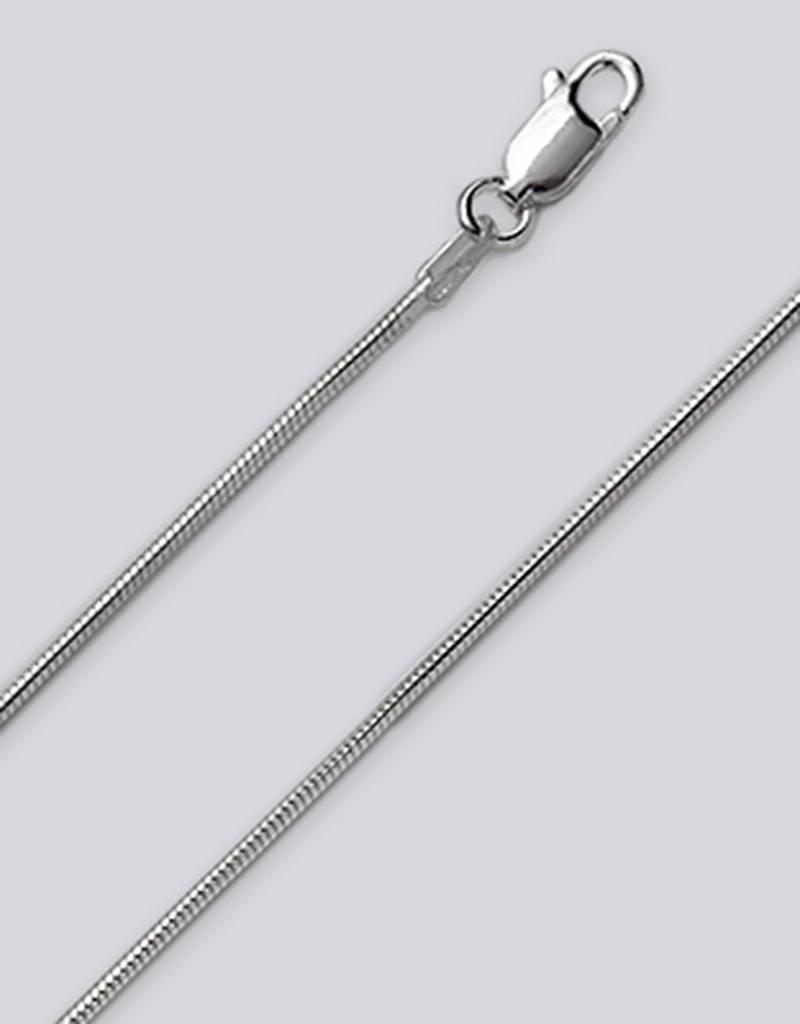 "Sterling Silver Snake 030 Chain Bracelet 7"""