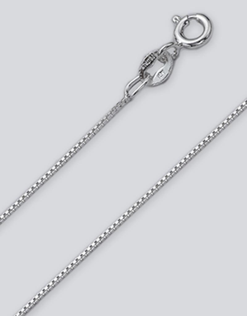 Sterling Silver Box 012 Chain Necklace