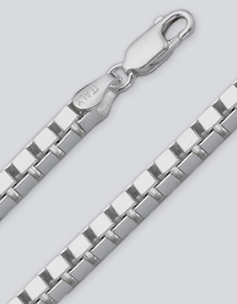Sterling Silver Box 250 Chain Necklace
