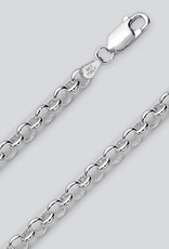 Sterling Silver Rolo 100 Chain Bracelet