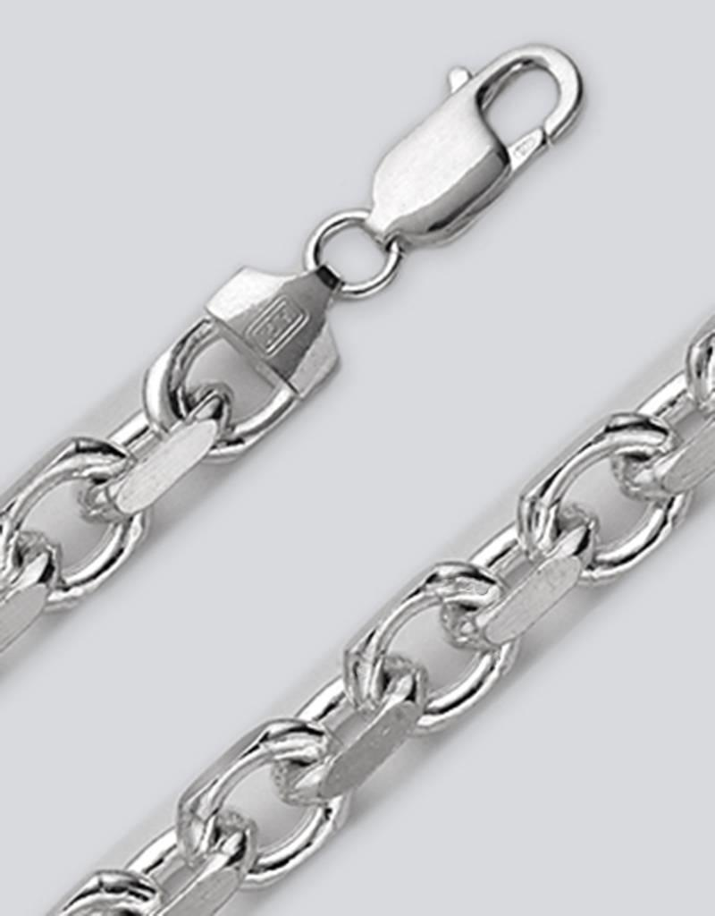 Sterling Silver 4 Sided Cable 250 Chain Bracelet