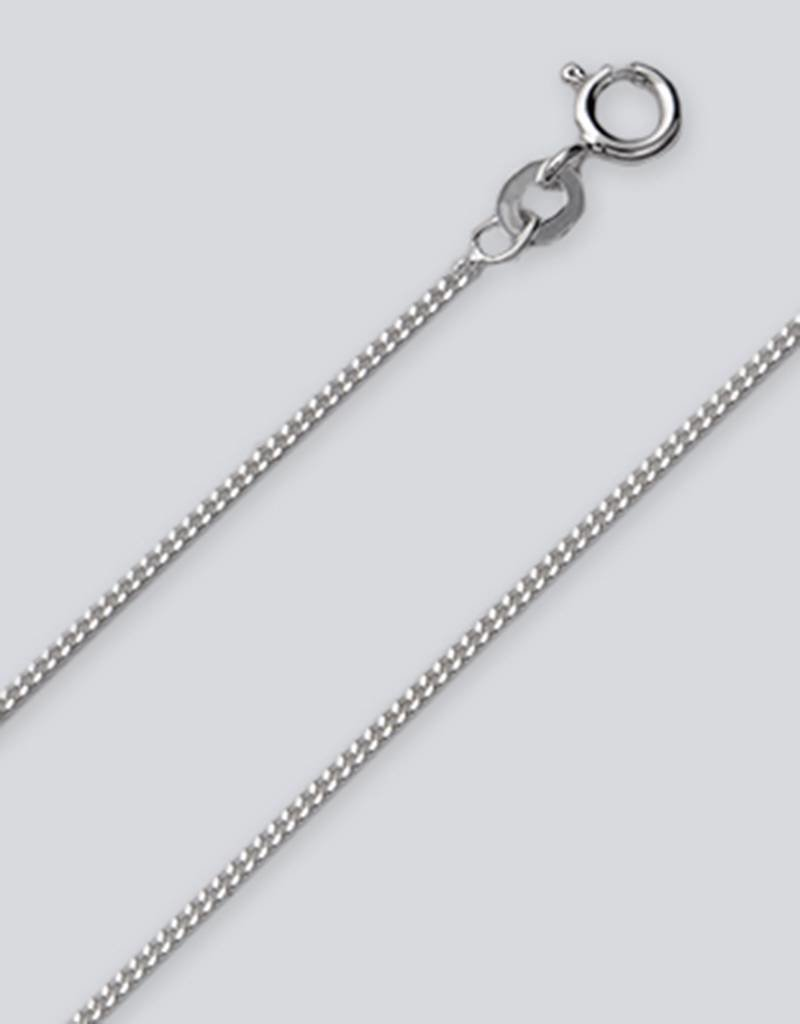 Sterling Silver Gourmette 035 Chain Necklace