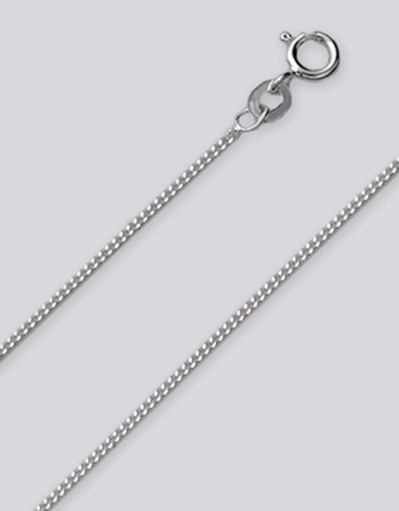 "Sterling Silver Gourmette 035 Chain Bracelet 7"""