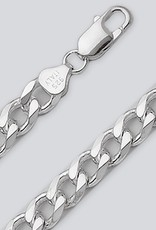 Sterling Silver Curb 220 Chain Necklace