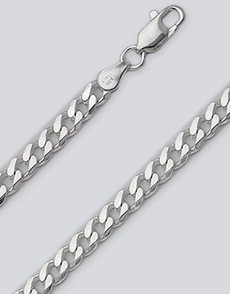 Sterling Silver Curb 120 Chain Bracelet