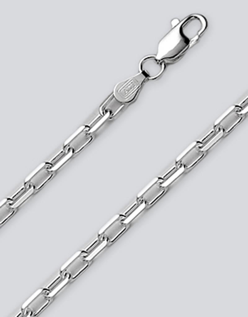 Sterling Silver Anchor Chain 100 Bracelet 7""