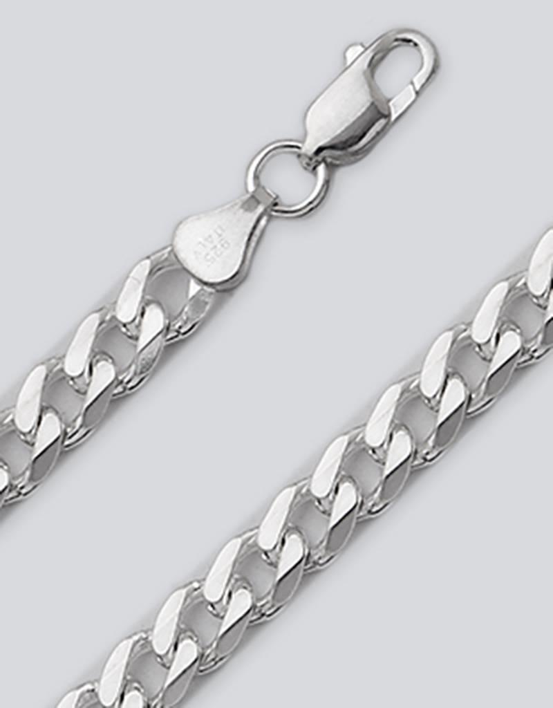 Sterling Silver Curb 180 Chain Bracelet