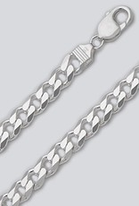 Sterling Silver Curb 250 Chain Necklace