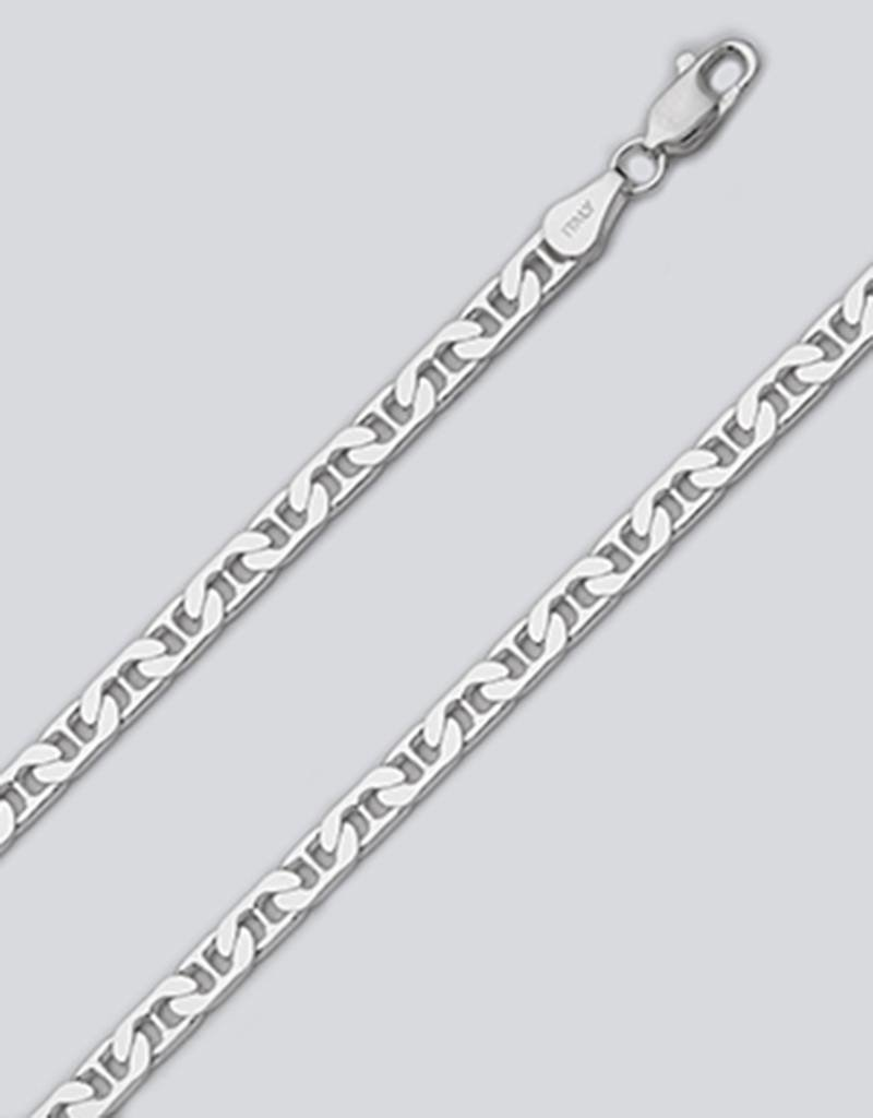 Sterling Silver Flat Marina 120 Chain Necklace