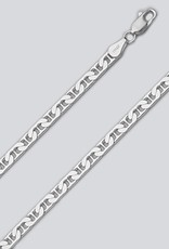 "Sterling Silver Flat Marina 120 Chain Bracelet 8"""