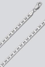 Sterling Silver Flat Marina 120 Chain Bracelet