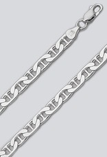 """Sterling Silver Flat Marina 180 Chain Necklace 24"""""""