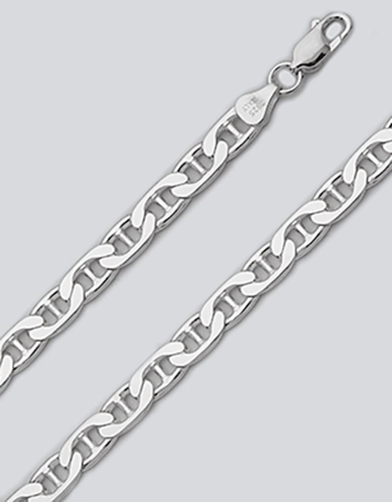 Sterling Silver Flat Marina 180 Chain Bracelet