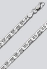"Sterling Silver Flat Marina 150 Chain Bracelet 8"""