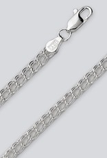 Sterling Silver Charm Link 060 Chain Bracelet