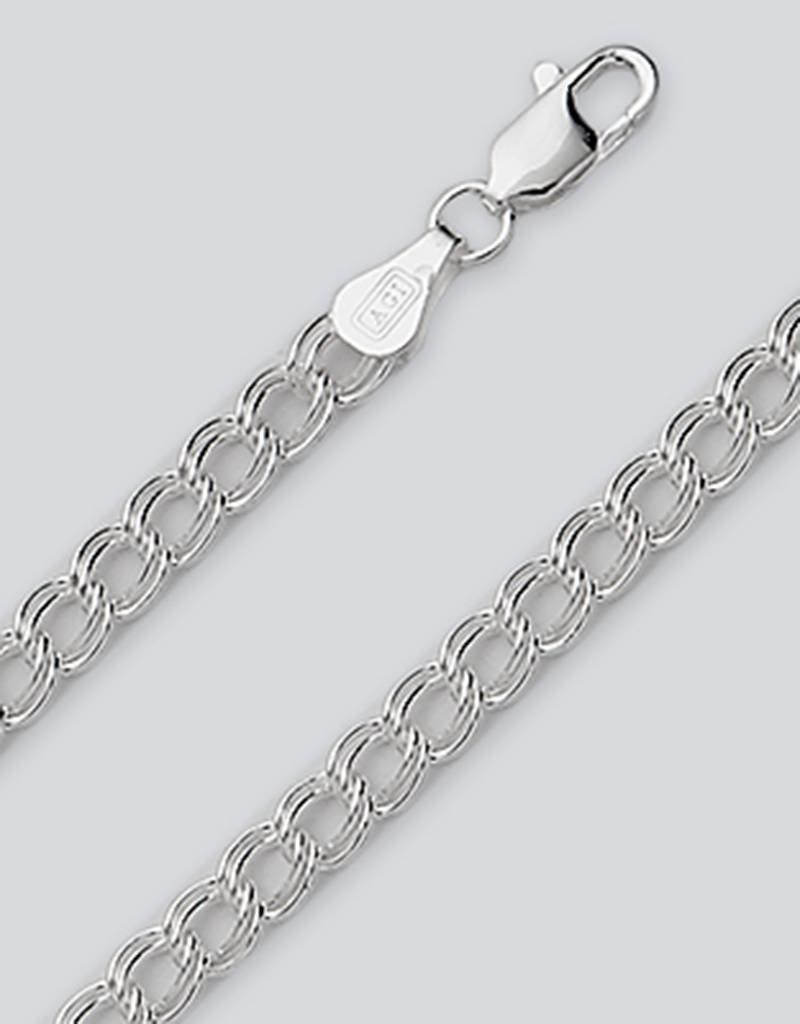 Sterling Silver Charm Link 070 Chain Bracelet