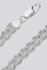 Sterling Silver Charm Link 120 Chain Bracelet