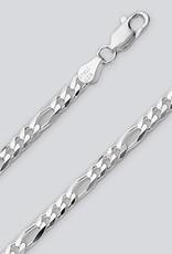 "Sterling Silver Figaro 100 Chain Bracelet 8"""