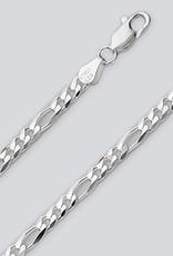 Sterling Silver Figaro 100 Chain Necklace