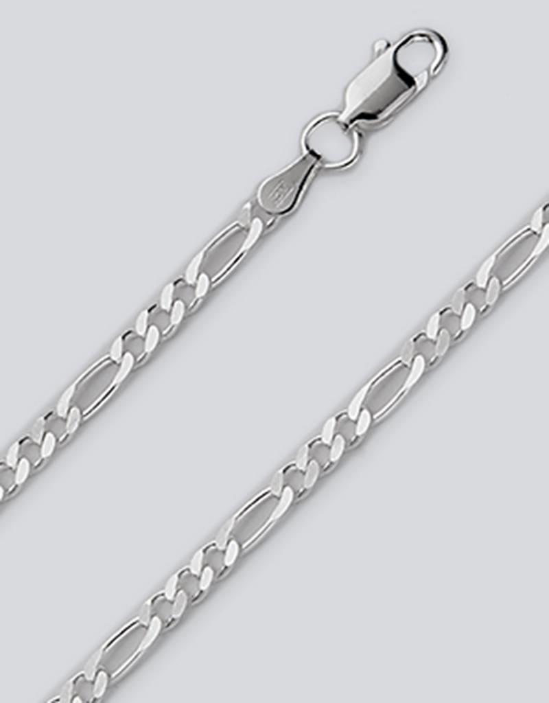 Sterling Silver Figaro 080 Chain Bracelet
