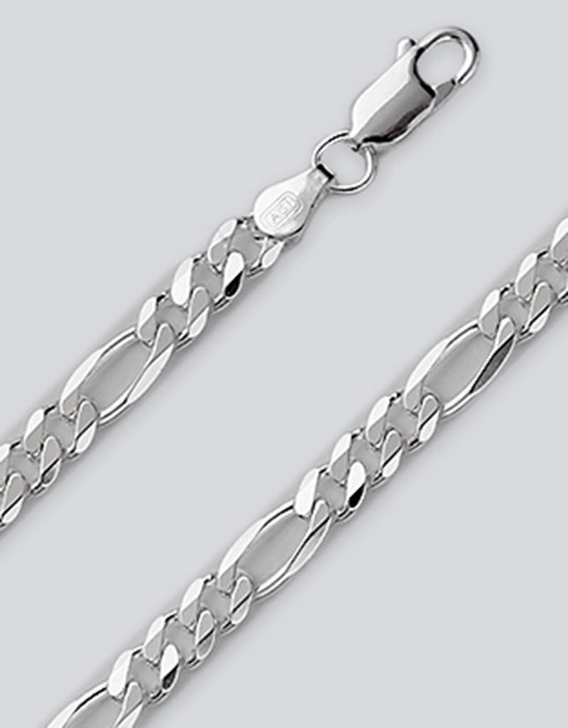 Sterling Silver Figaro 120 Chain Necklace