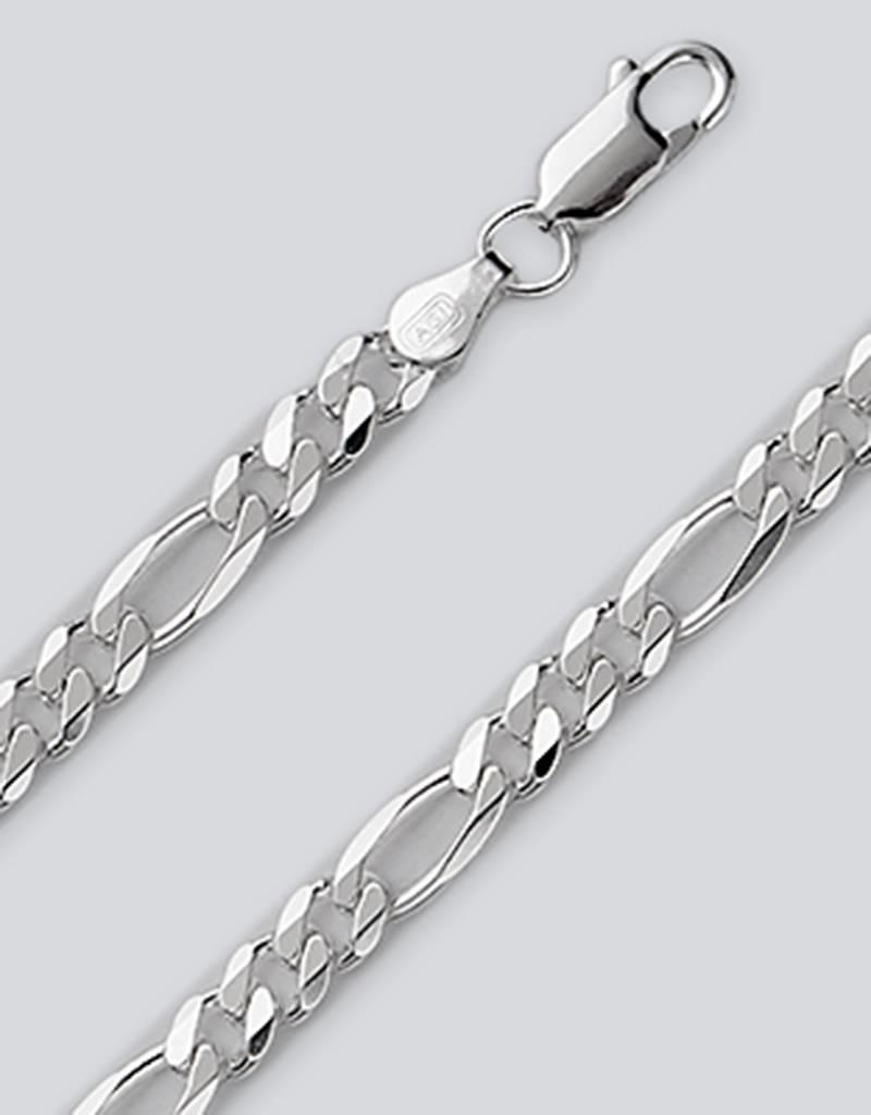 Sterling Silver Figaro 120 Chain Bracelet