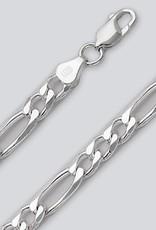 Sterling Silver Figaro 180 Chain Bracelet