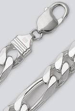Sterling Silver Figaro 400 Chain Bracelet