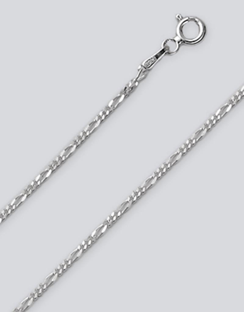 Sterling Silver Figaro 040 Chain Necklace