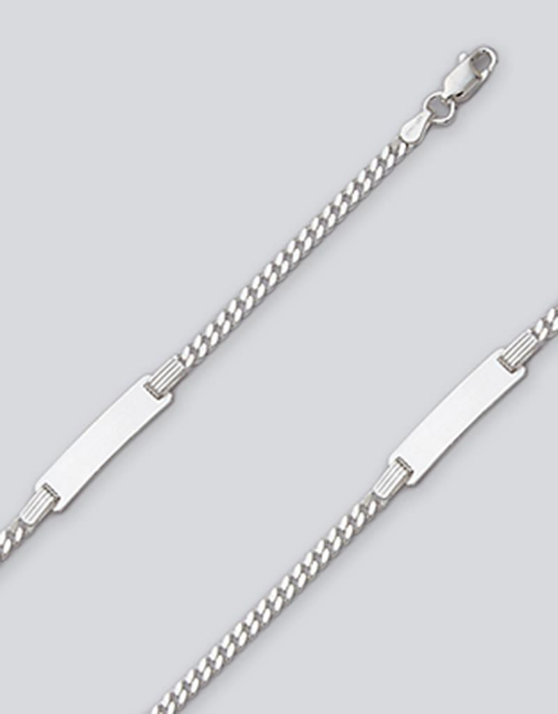 Sterling Silver Curb 080 Chain ID Bracelet