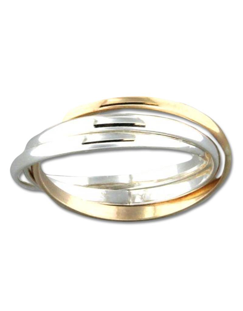 Rolling Band SS/GF Ring