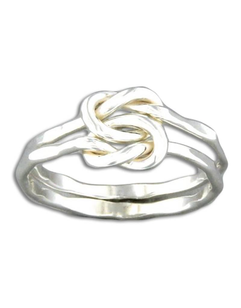 Sterling Silver Double Love Knot Ring Simply Sterling