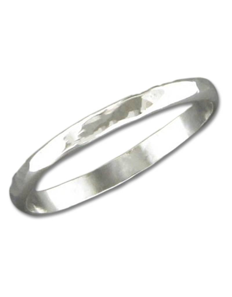 2mm Hammered Band Ring