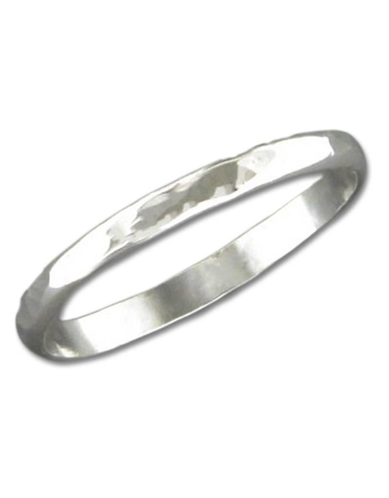 MRK 2mm Hammered Band Ring