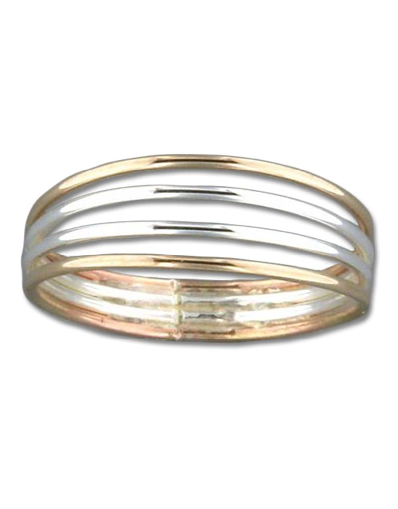 4 Band SS/GF Ring