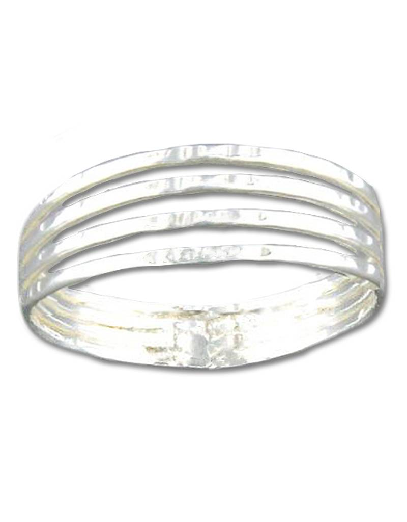 MRK 4 Band Hammered Ring