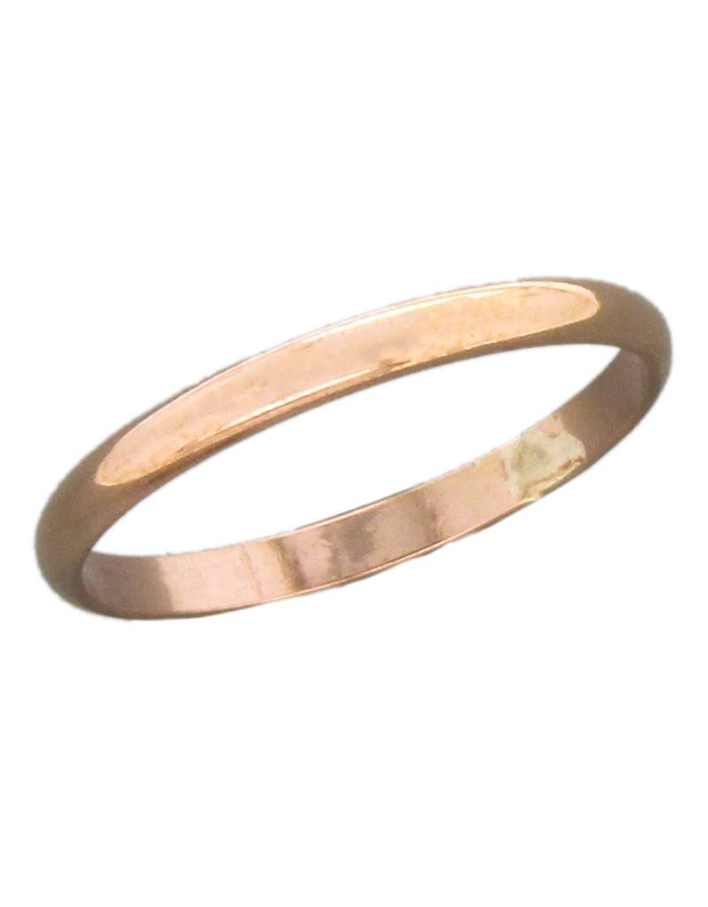 2mm Rose Gold Filled Band Ring