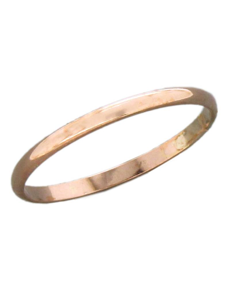1.6mm Rose Gold Filled Band Ring