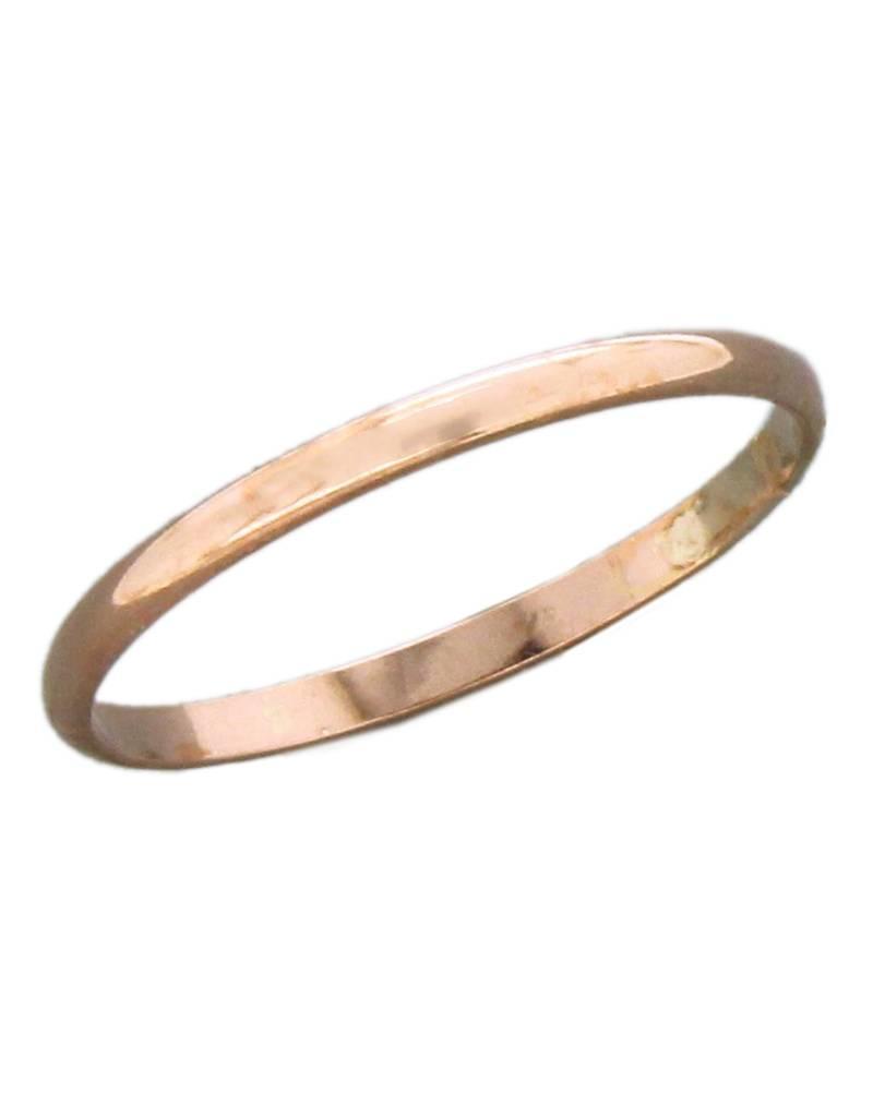 14k Rose Gold Filled 1.6mm Band Ring
