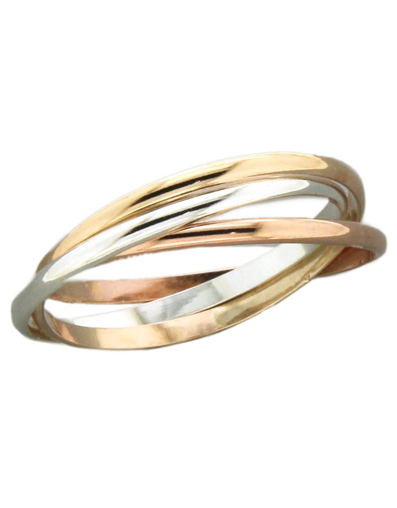 Rolling Band Tritone Ring